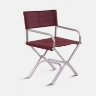 High-End Folding Aluminum Boat Chair - Red- A6000VR