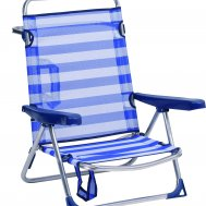Folding Aluminum 5 Position Beach Chair  'Dolphin' PA630G