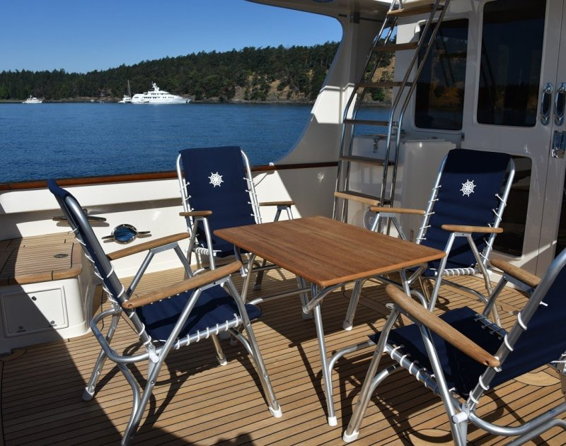 folding aluminium boat chair m150nb forma marine