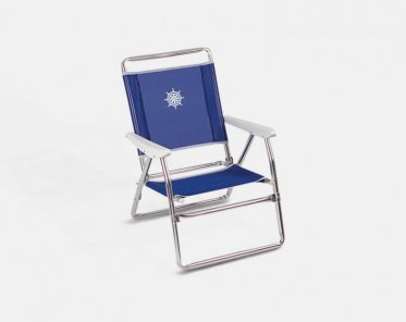 Folding Aluminum Beach Chair Blue Textilene U0027Plazu0027 PA600B