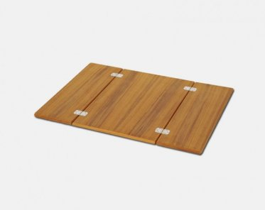 Teak Veneer Foldable Pit Table Top Open 66x90 Cm Or Folded 66x45cm S6690t