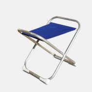 Folding Aluminum Boat Stool - Blue- M700B