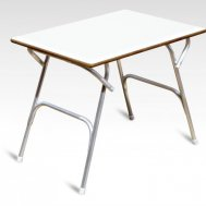 High Quality Marine grade Plywood covered with White Formica Table 61 x 88 X 70 cm M400HFT